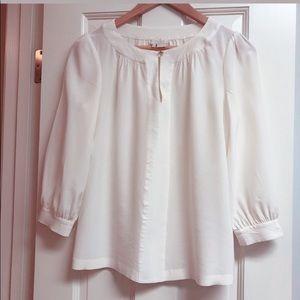 Kate spade silk cream blouse size 4 small like new